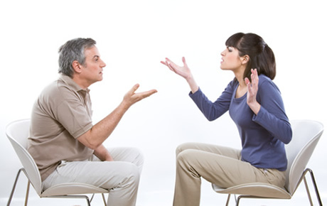 arguing about divorce